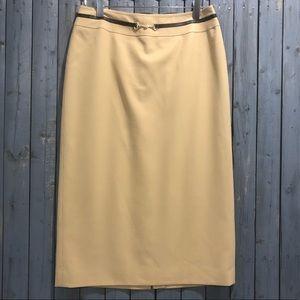 Ann Taylor Loft Buckle Accent Skirt